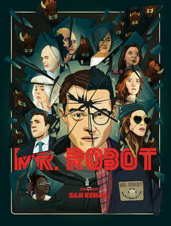 Mr. Robot - Fractured Poster