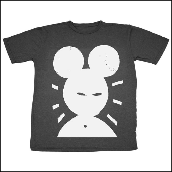 VINTAGE BLACK WITH WHITE PRINT BATTLEBOX 'EVIL MOUSE' UNISEX TSHIRT