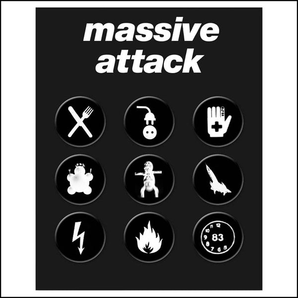 MASSIVE ATTACK BADGE SET