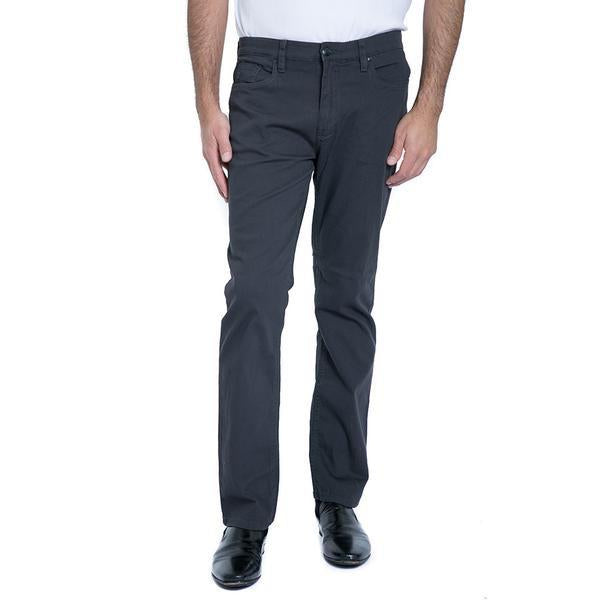 ENGLISH LAUNDRY SOLID CARNABY TWILL IRON GREY 5 POCKET SLIM FIT SLACKS