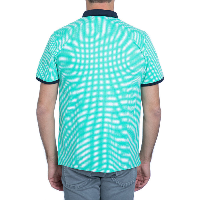 English Laundry Green Gingham Polo