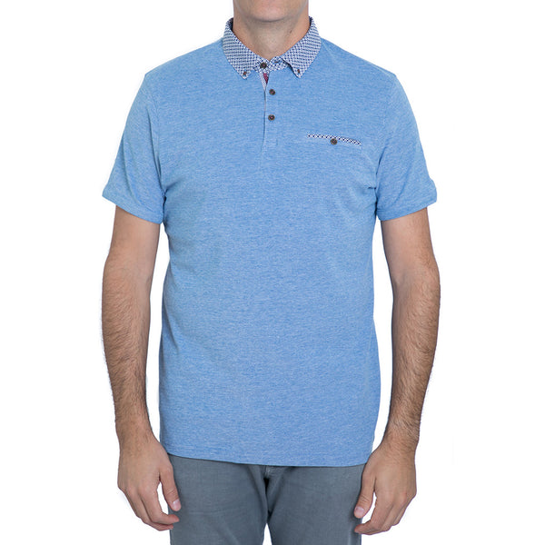 English Laundry Navy Pique Polo Shirt