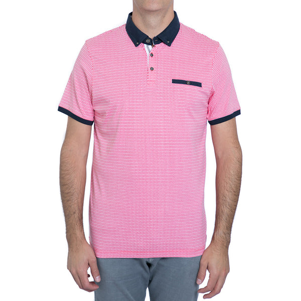 English Laundry Coral Printed Polo