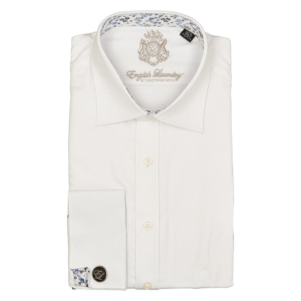 English Laundry Long Sleeve Dress Shirt With Cufflinks