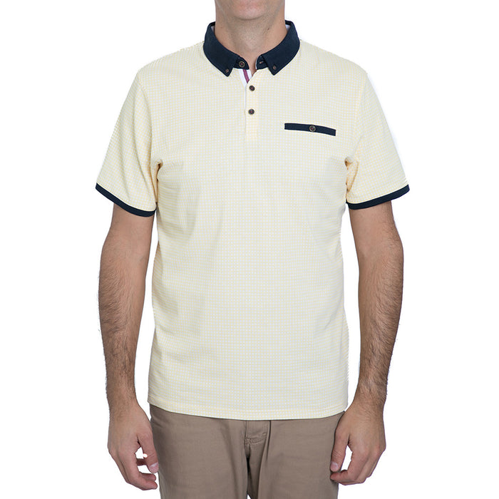English Laundry Yellow Gingham Polo