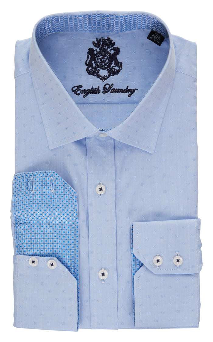 English Laundry Light Blue Men's Dress Shirt