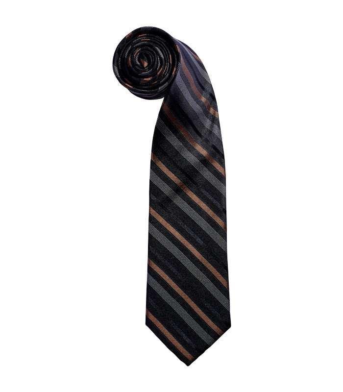English Laundry Black Stripe Tie
