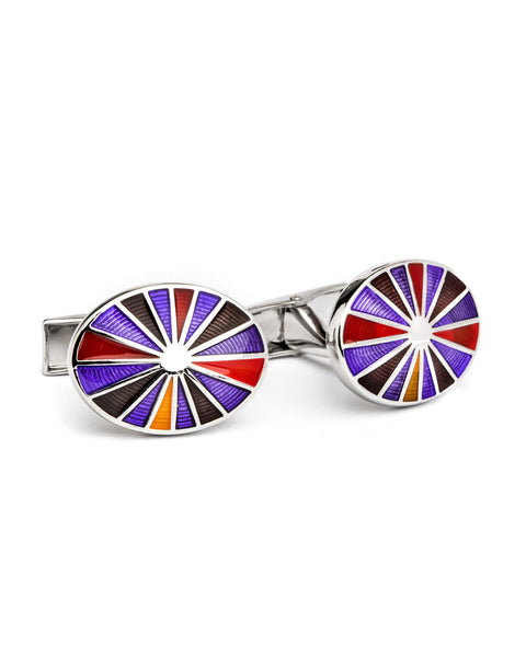 MULTI OVAL CUFFLINKS