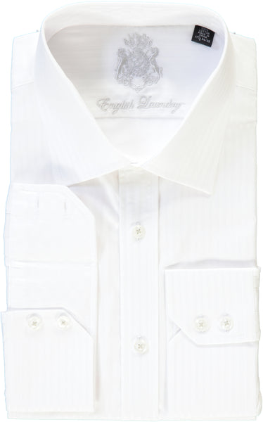 English Laundry White on White Striped Dress Shirt
