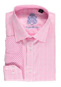 English Laundry Pink Checked Dress Shirt
