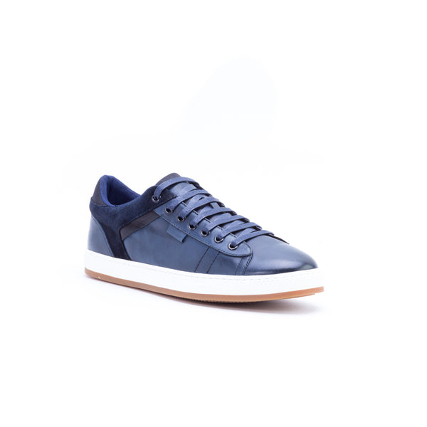 English Laundry Ireton Leather and Suede Sneaker, Navy