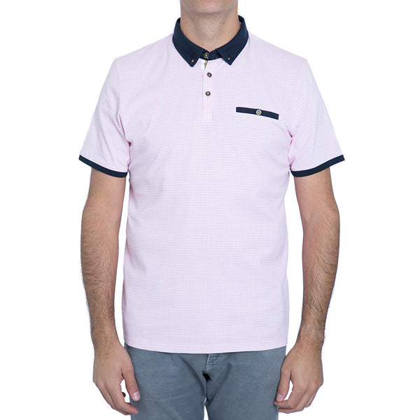 English Laundry Pink Gingham Polo