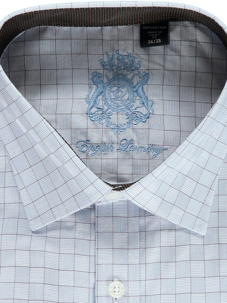 Grey Checked Dress Shirt