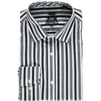 White Gray and Black Striped Shirt