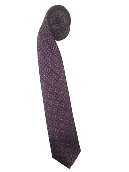 Purple Check Pindot Tie with English Laundry Embroidered Logo