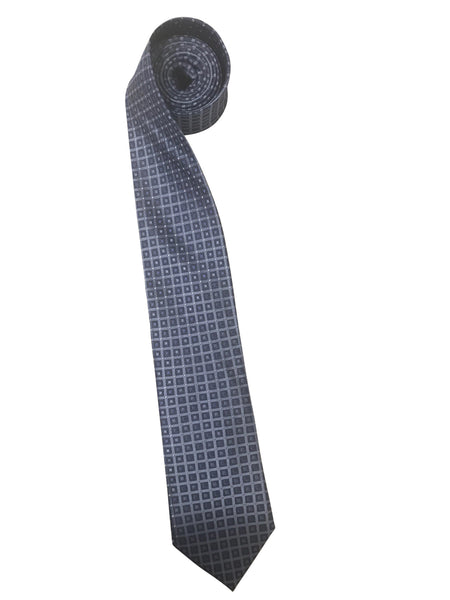 Classic Light Blue Check Tie with Pin Dots
