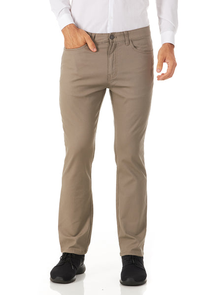 CARNABY TAN/KHAKI ENGLISH LAUNDRY 5 POCKET STRETCH SLIM FIT PANTS