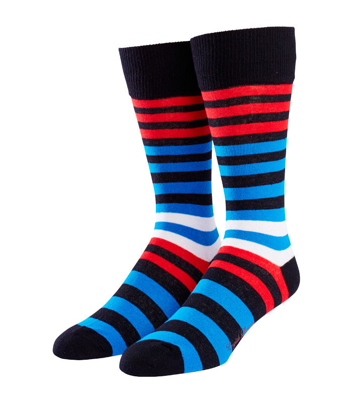 English Laundry Nautical Colored Thick Stripe Socks