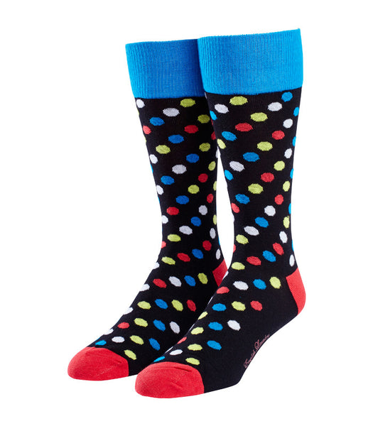 Small Multi-Colored Polka Dot Socks