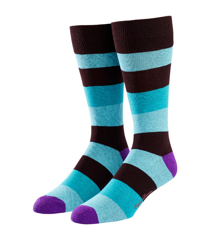 Brightly Colored Wide Stripe Socks