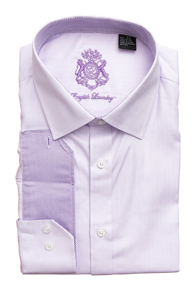English Laundry Men's Lavendar Dress Shirt