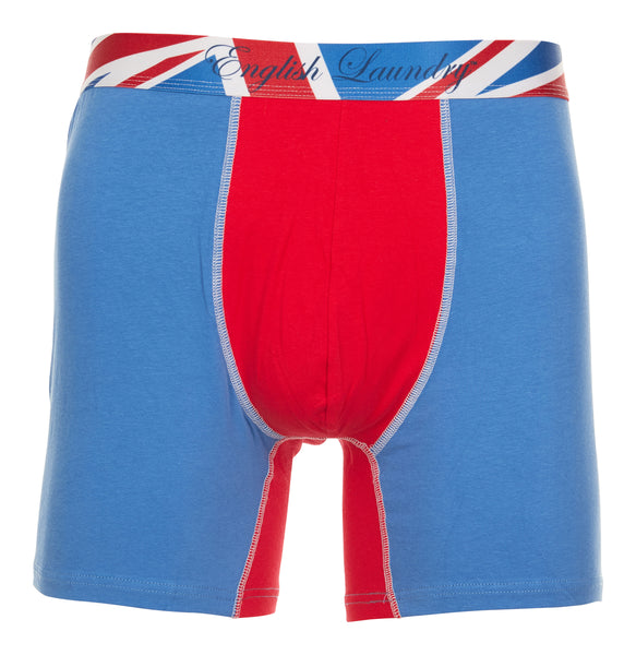 Blue and Red Cotton Stretch Boxer Brief 3 for $20