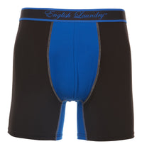 Black and Blue Poly Stretch Boxer Brief 3 for $20