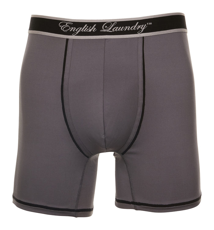 Dark Grey and Black Poly Stretch Boxer Brief 3 for $20