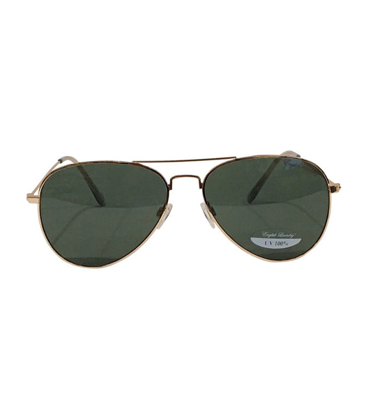 Gold Frame/Green Lens Sunglasses
