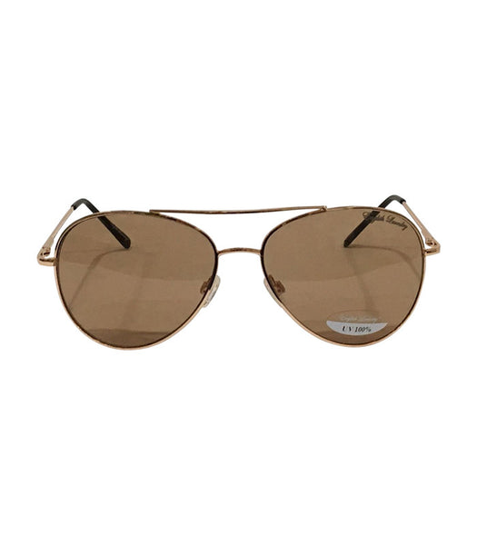 Gold Frame/Brown Lens Sunglasses