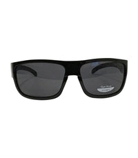 Wrap Around Black Frame/Smoke Lens Sunglasses