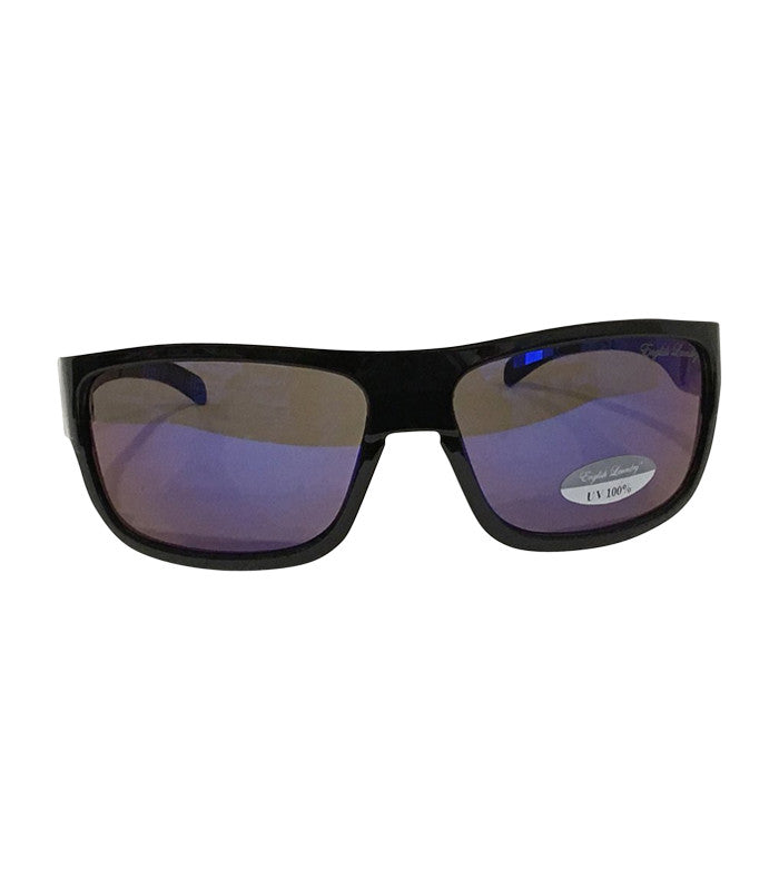 Black Frame/Blue Lens Sunglasses