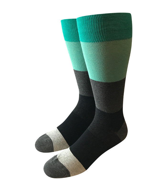 Black & Grey Colorblock Socks
