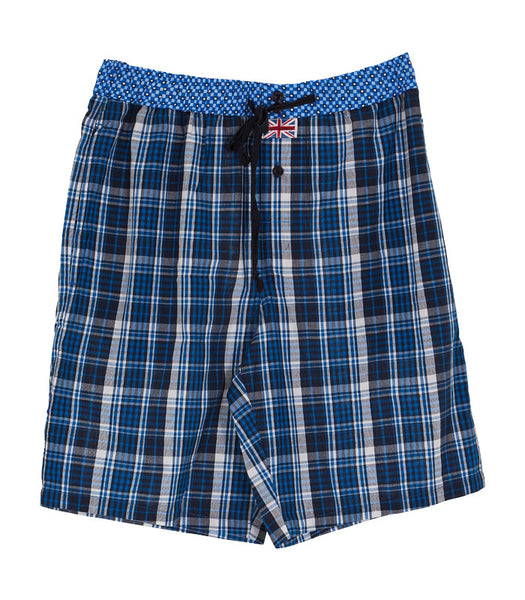 Plaid Drawstring Shorts