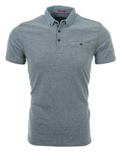 English Laundry Grey Pique Polo Shirt