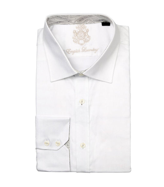 WHITE BUTTON DOWN DRESS SHIRT