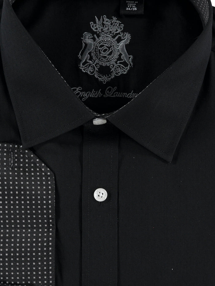 English Laundry Black Dress Shirt
