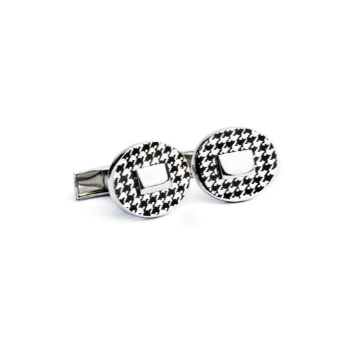 English Laundry Rhodium plated cuffliks