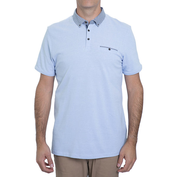English Laundry Blue Pique Polo Shirt