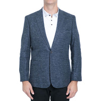 Navy Stretch Knit Blazer