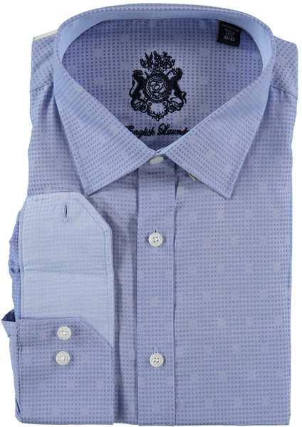 English Laundry Blue Dot Dress Shirt