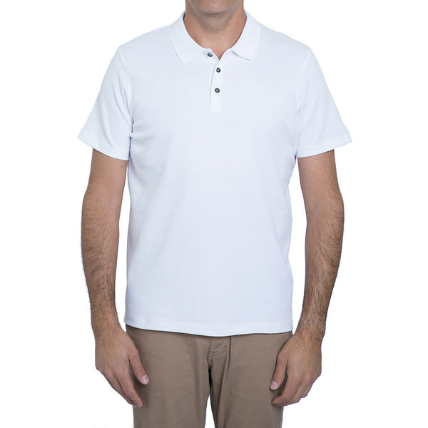 English Laundry White  Waffle Knit Polo Shirt