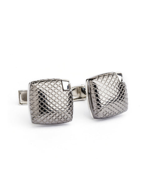 DIAMOND LATTICE CUFFLINKS