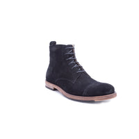 English Laundry Swansea Cap Toe Suede Boot, Black