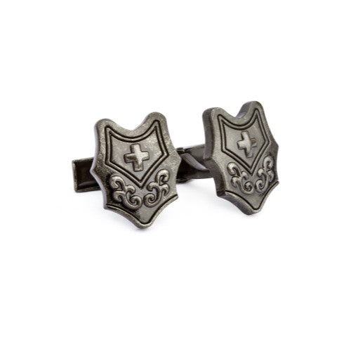 English Laundry Cross sheild cufflinks