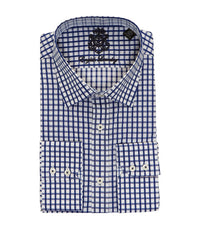 CHECKERED BUTTON DOWN DRESS SHIRT