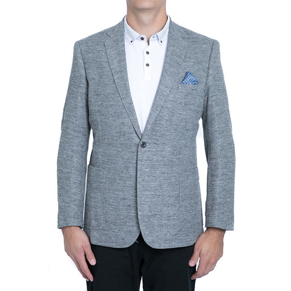 Grey Stretch Knit Blazer