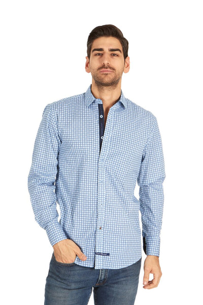 English Laundry Blue Print Sport Shirt