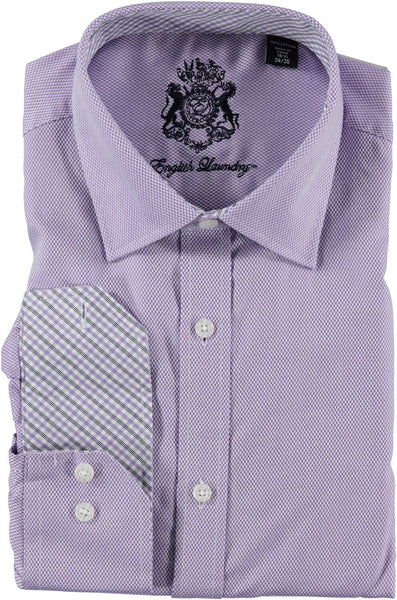 English Laundry Lavender Tweed Dress Shirt