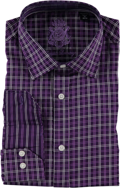 English Laundry Purple Squares Dress Shirt